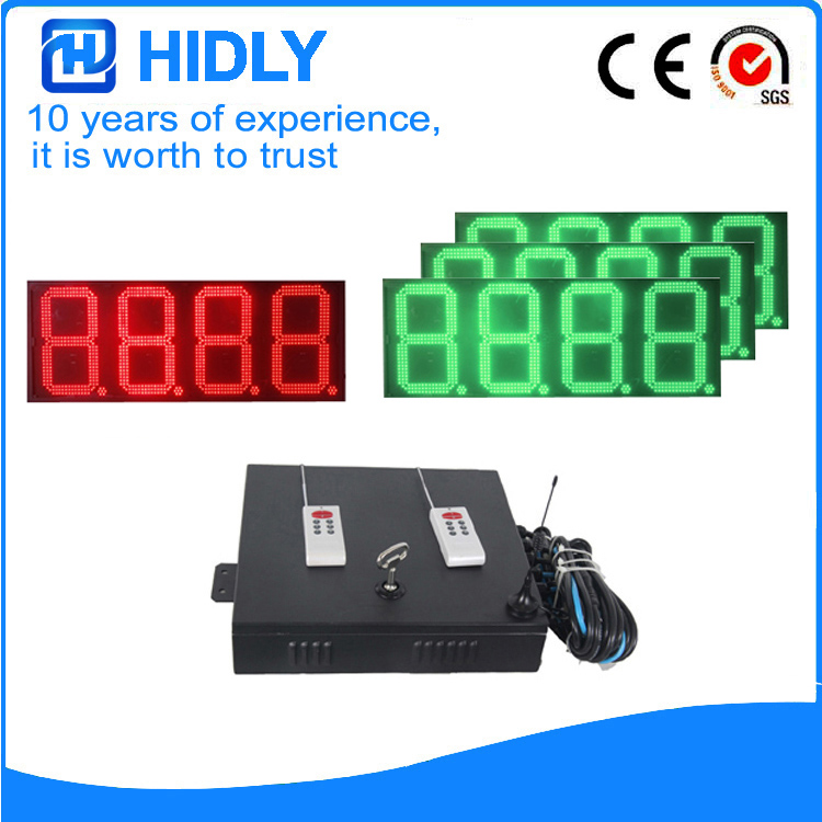 16 Inch Red&Green LED Price Signs For Station