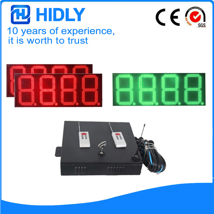 16 Inch Red&Green LED Oil Price Signs For Station