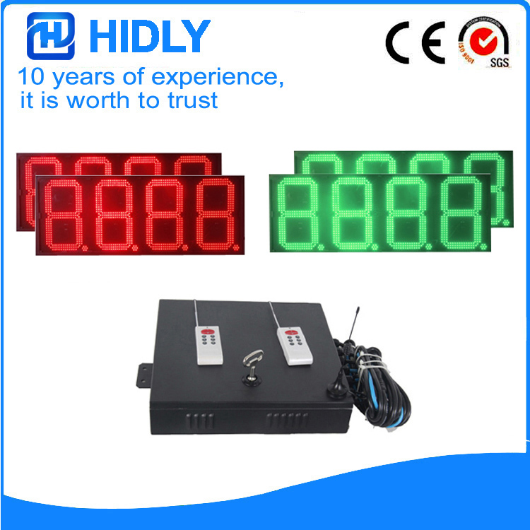 16 Inch Red&Green LED Oil Price Board For Station