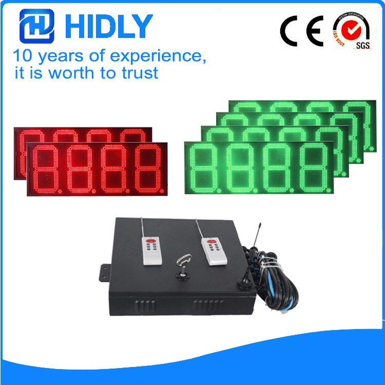 16 Inch Red&Green LED Price Screen For Station