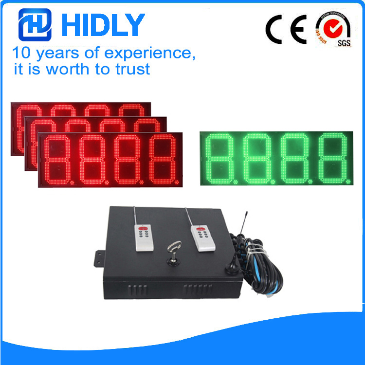 16 Inch Red&Green LED Price Board For Station