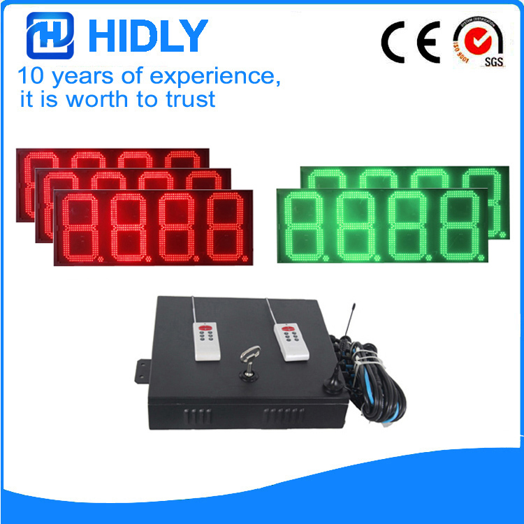 16 Inch Red&Green LED Digital Display For Station