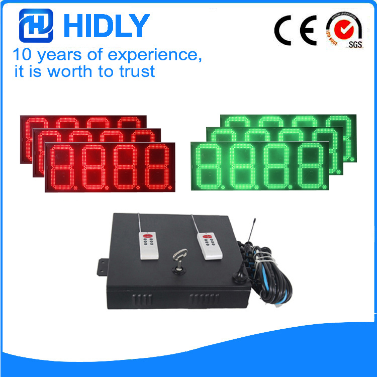 16 Inch Red&Green LED Digital Screen For Station