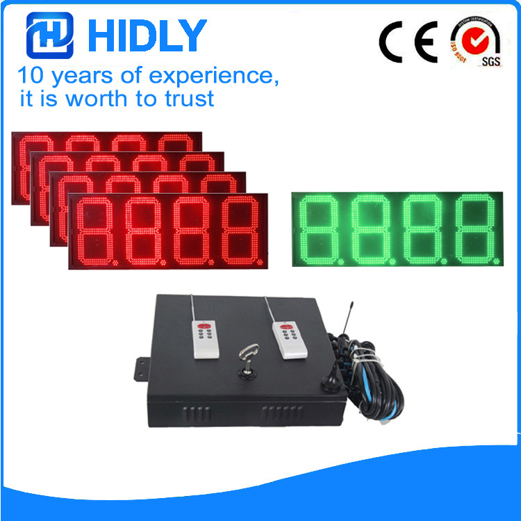 16 Inch Red&Green LED Oil Signs For Station