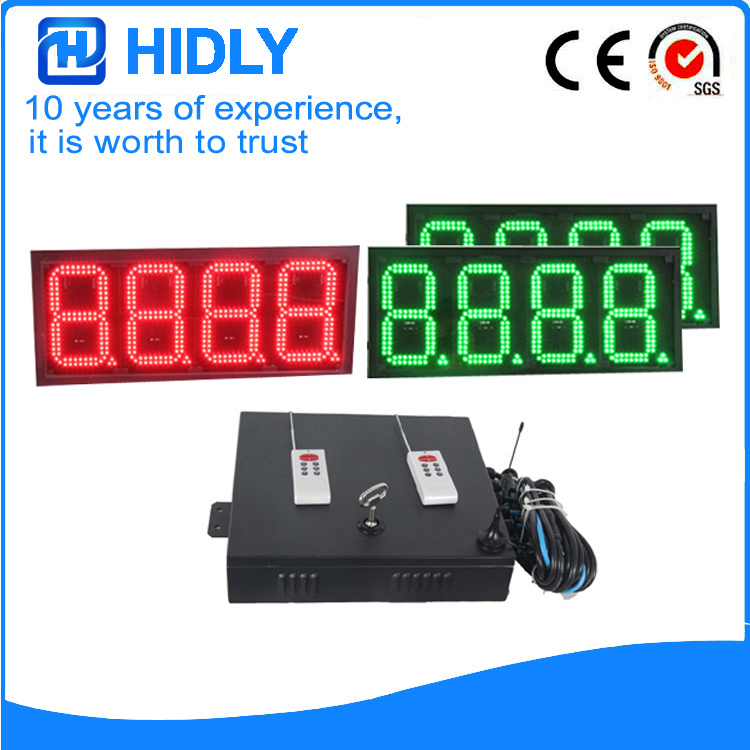 8 Inch Red&Green LED Price Signs For Station