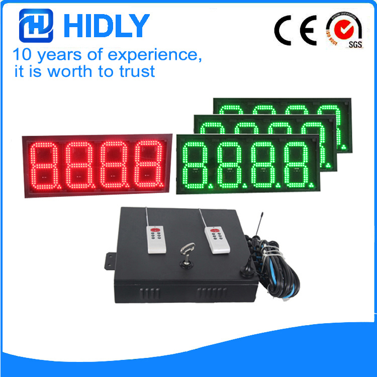 8 Inch Red&Green LED Oil Display For Station