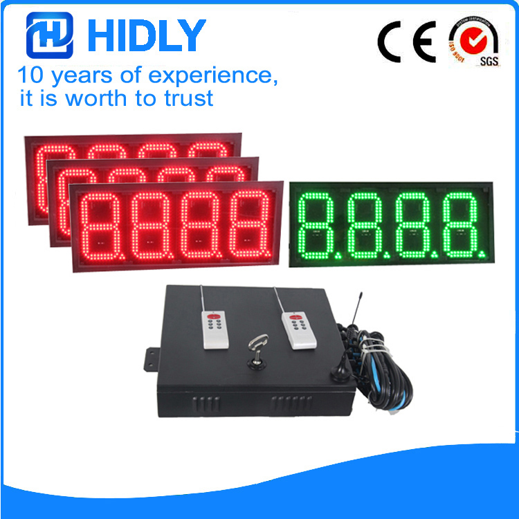 8 Inch 3R1G 8888 LED Price Signs For Station