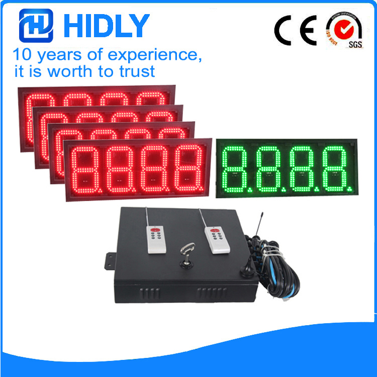 8 Inch 4R1G 8888 LED Price Screen For Station