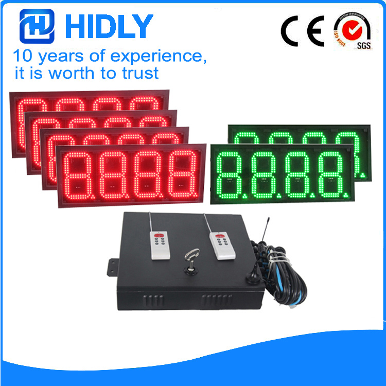 8 Inch 4R2G 8888 LED Oil Screen For Station