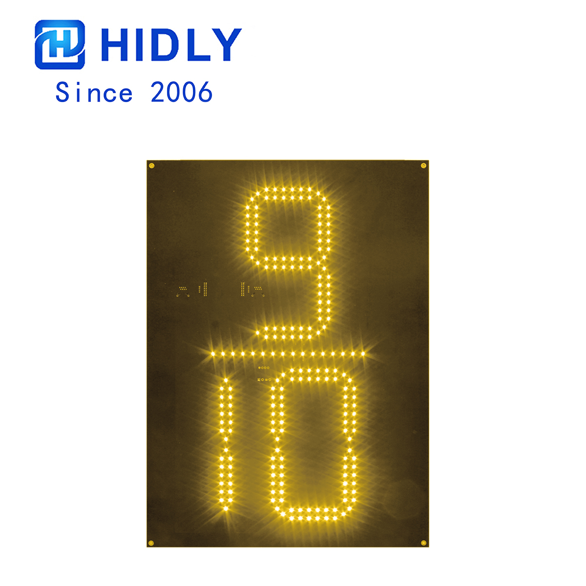 Yellow 20 Inch 9/10 Led Digital Board