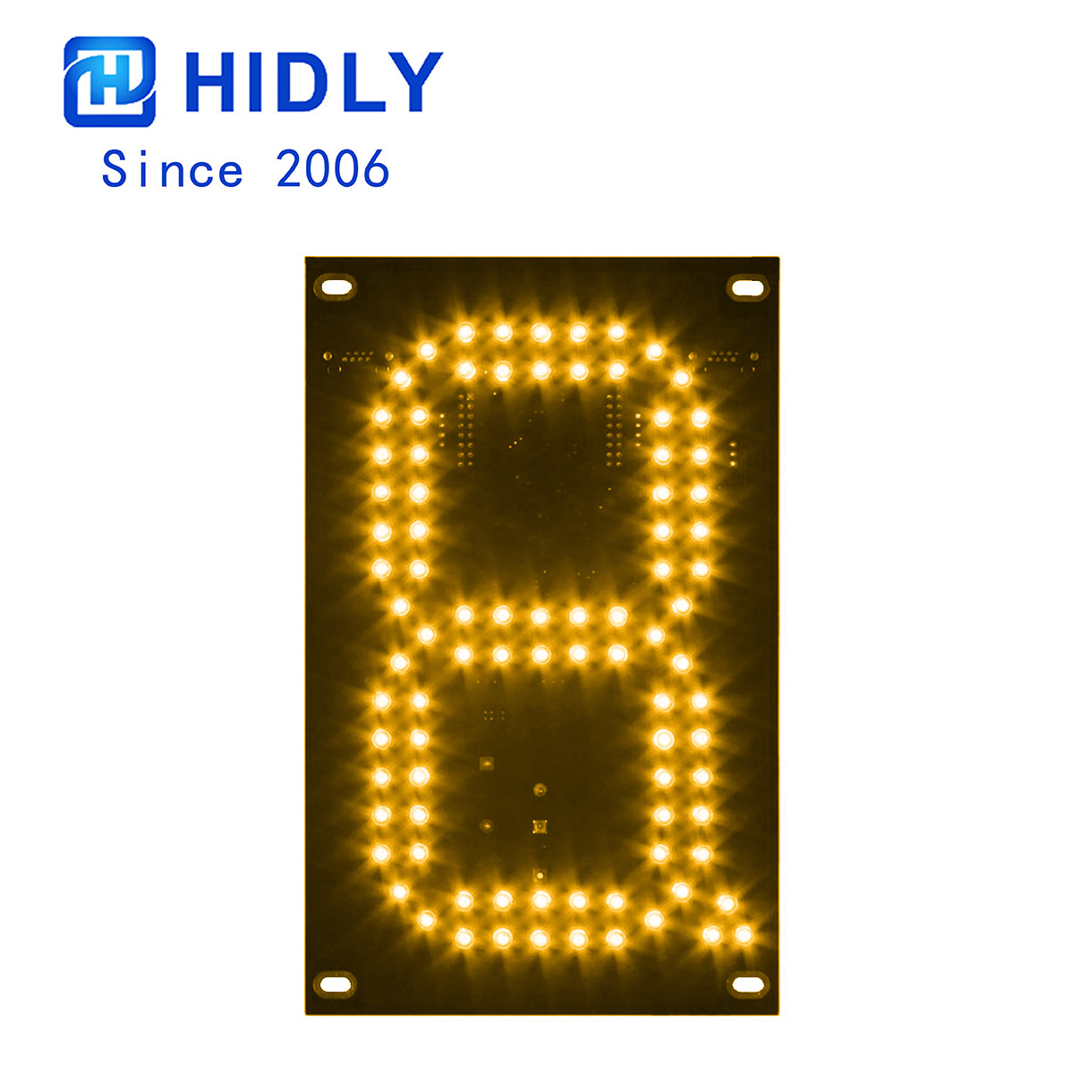 Yellow 7 Inch Led Digital Board title=