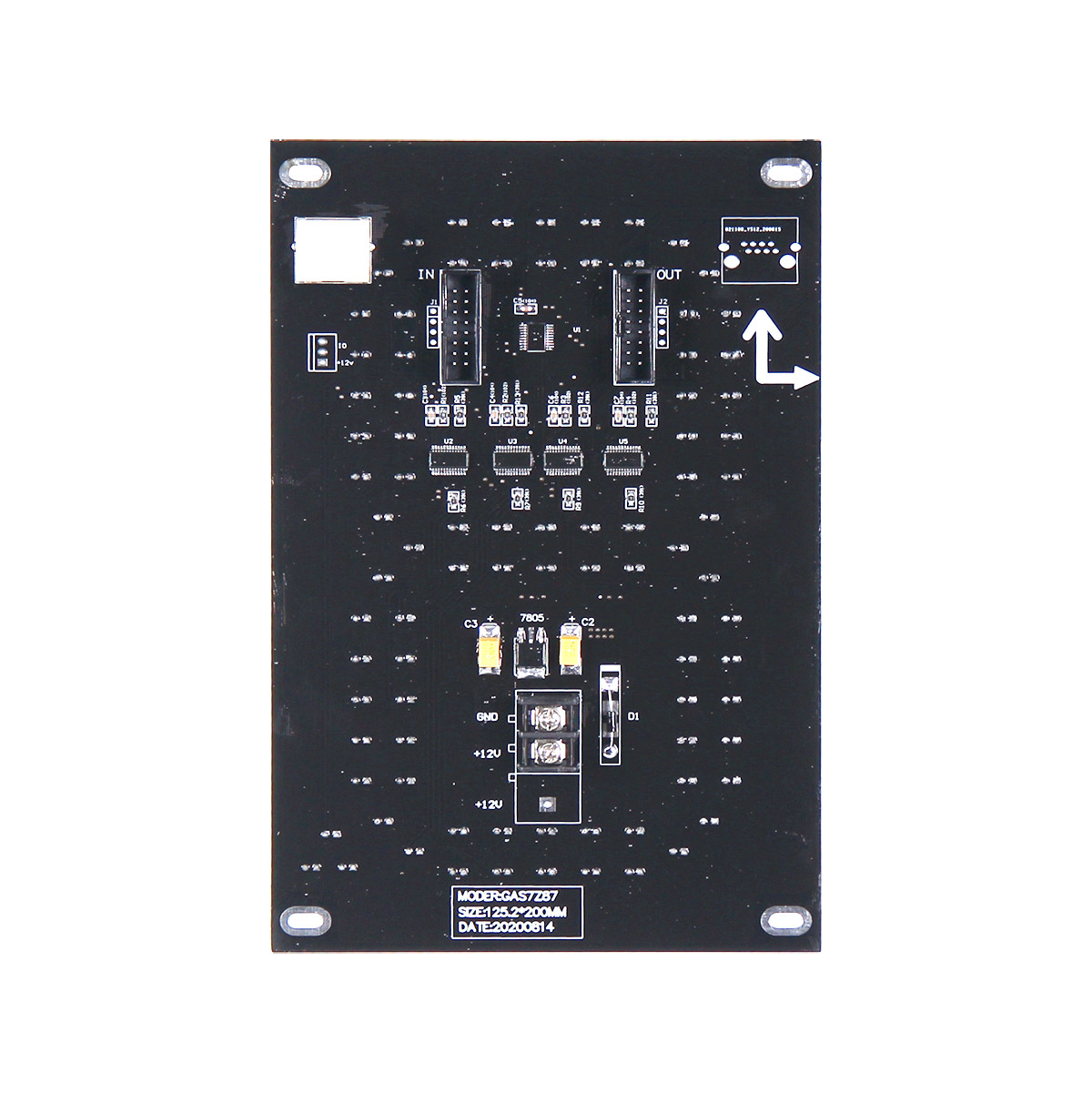 Yellow 7 Inch Led Digital Board