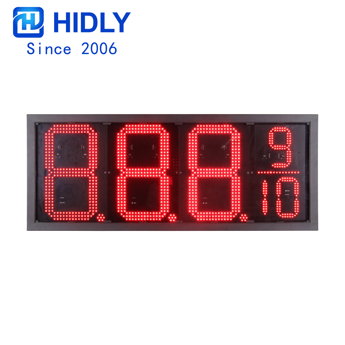 American Waterproof 16 Inch Red Super Bright Led Gas Price Sign:GAS16Z8889R title=