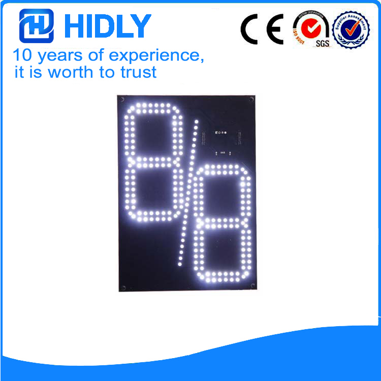 12 Inch White 8/8 LED Gas Signs