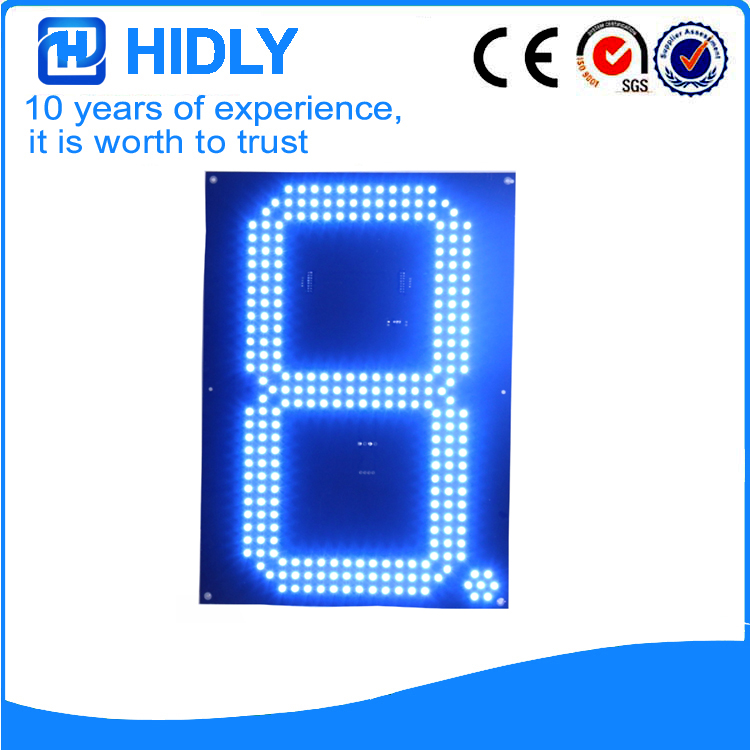 16 Inch Blue LED Price Signs