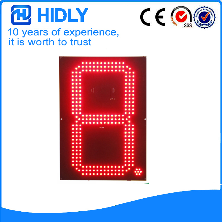 16 Inch Red LED Oil Signs