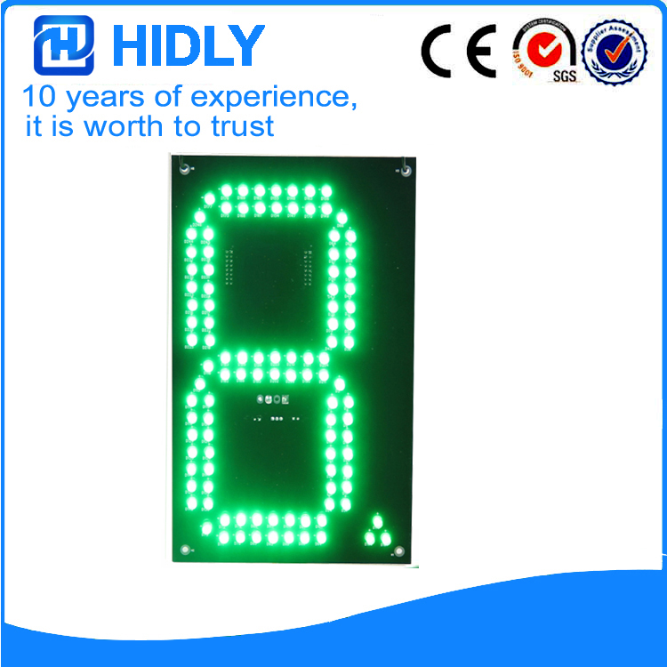 8 Inch Green LED Gas Signs