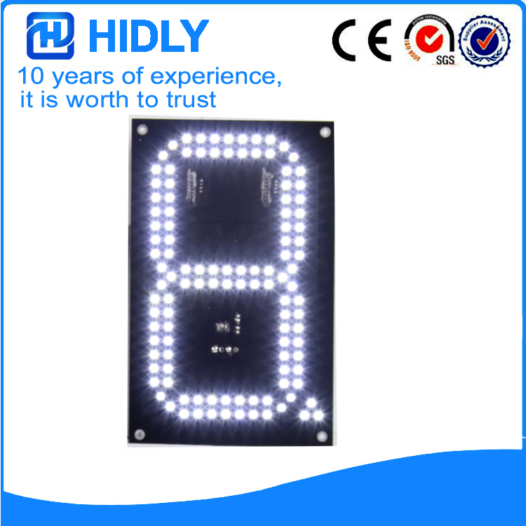 8 Inch White LED Digital Screen