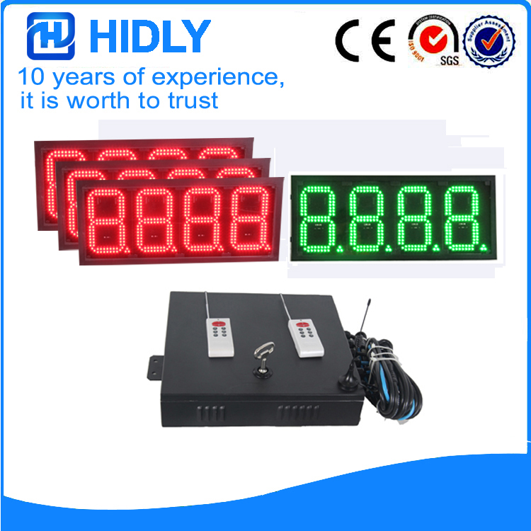 8Inch 3R1G LED Price Screen For Station
