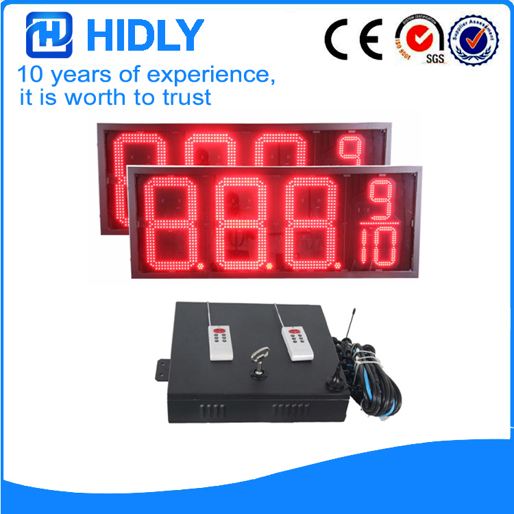20 Inch Red LED Price Screen For Station