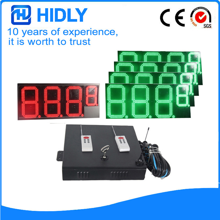 16 Inch 1R4G LED Oil Display For Station