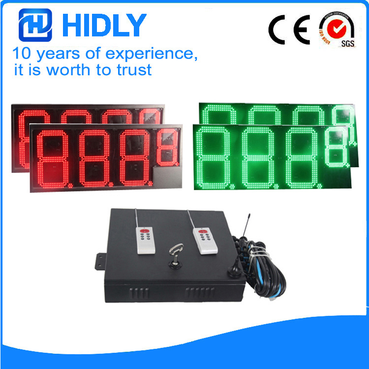 16 Inch 2R2G LED Price Screen For Station