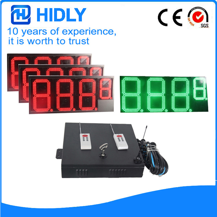 16 Inch 3R1G LED Price Board For Station