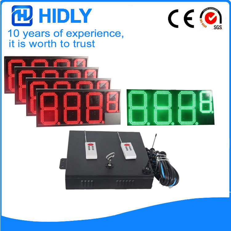 16 Inch 4R1G LED Price Screen For Station