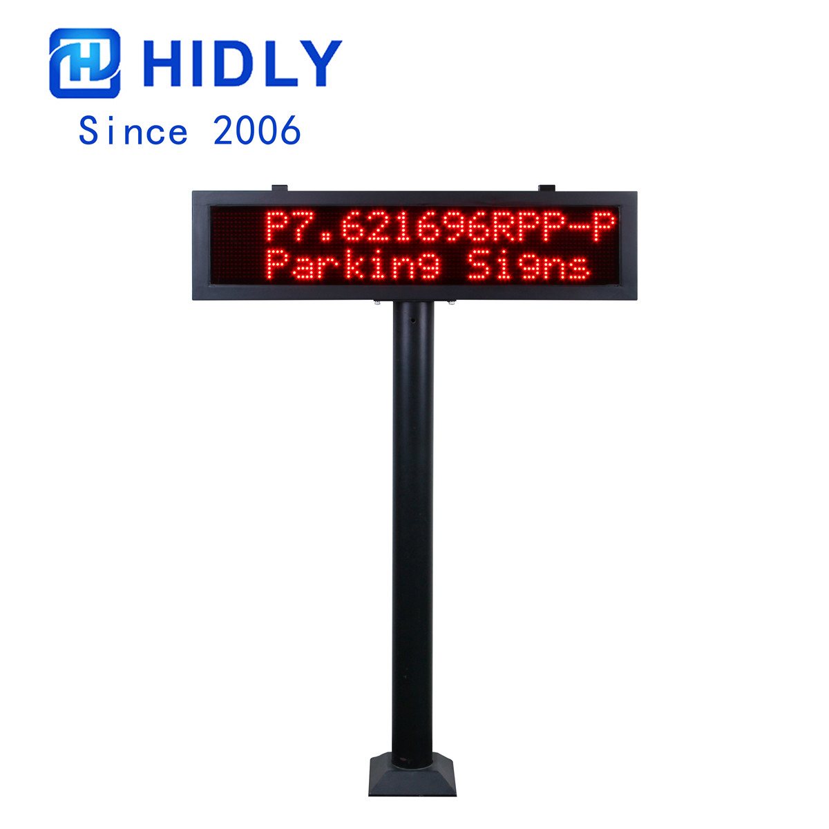 P7.62 Red LED Parking Garage Signs with Pillar