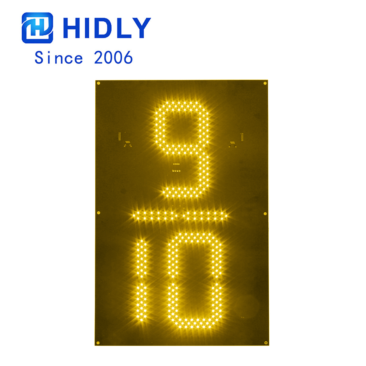 Yellow 24 Inch 9/10 Led Digital Board