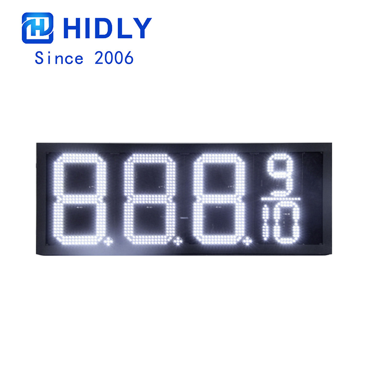 8 Inch White Super Bright Led Gas Price Display:GAS8Z8889W
