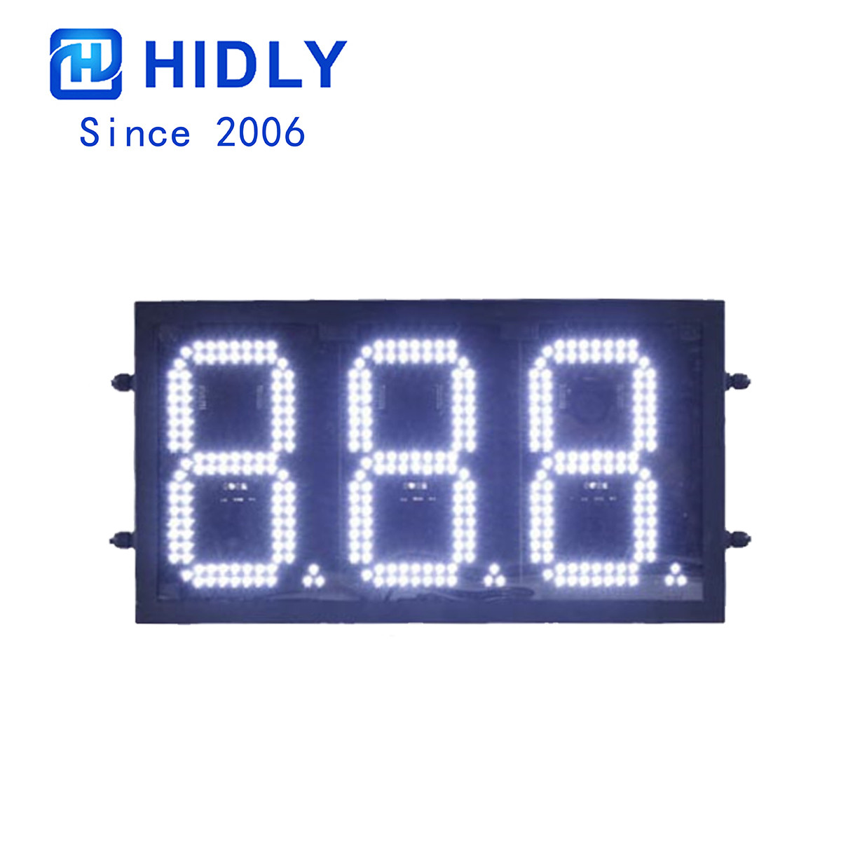Canada Waterproof 8 Inch White Led Price Gas Signs:GAS888W title=