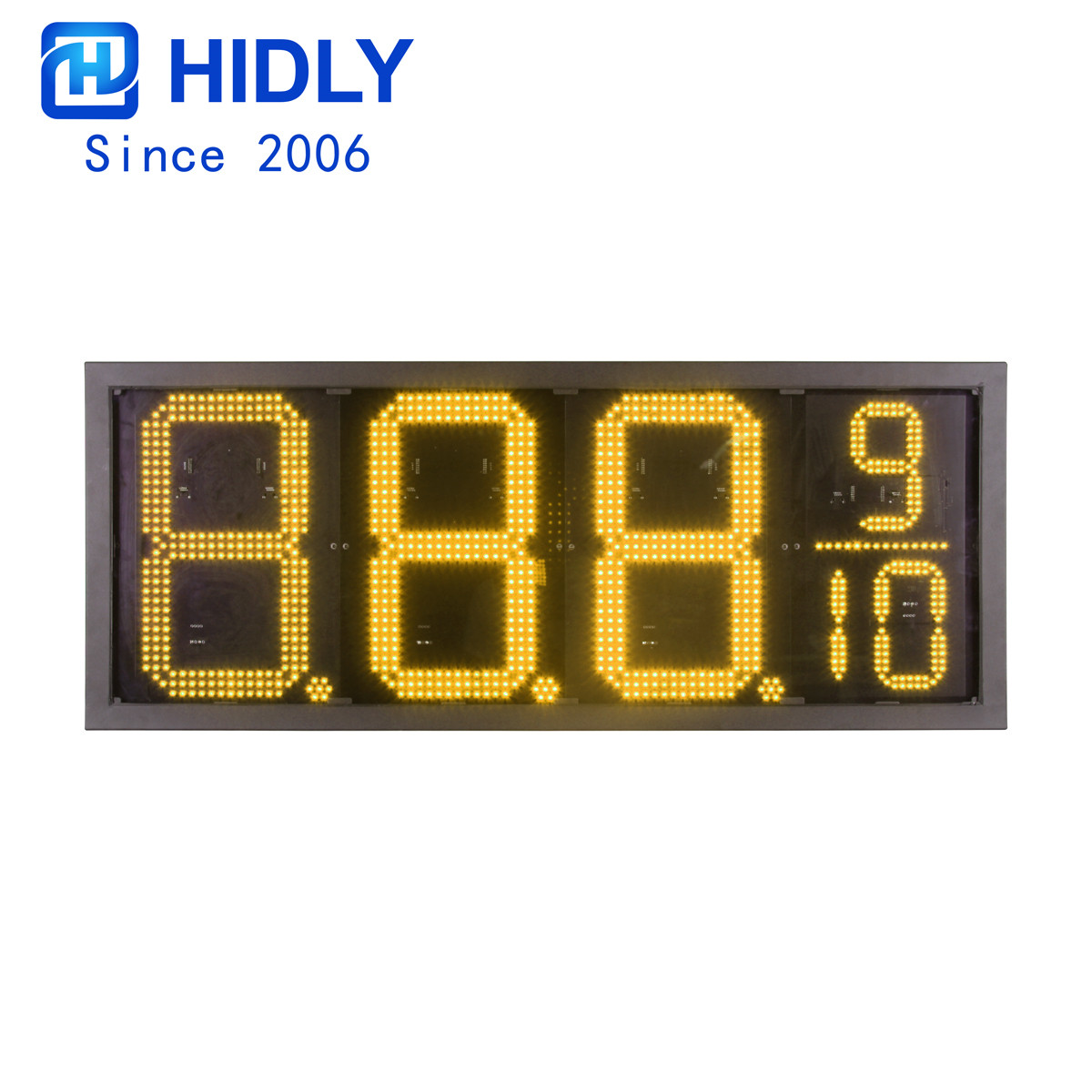 American Waterproof 16 Inch Yellow Led Price Gas Signs:GAS16Z8889Y
