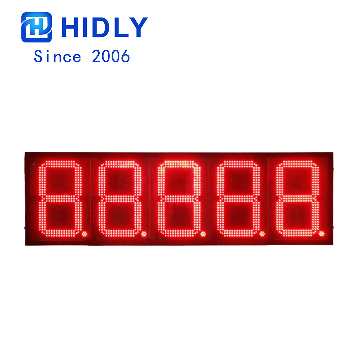 Dominican Waterproof 16 Inch Red Bright Led Gas Price Sign:GAS16Z88888R title=