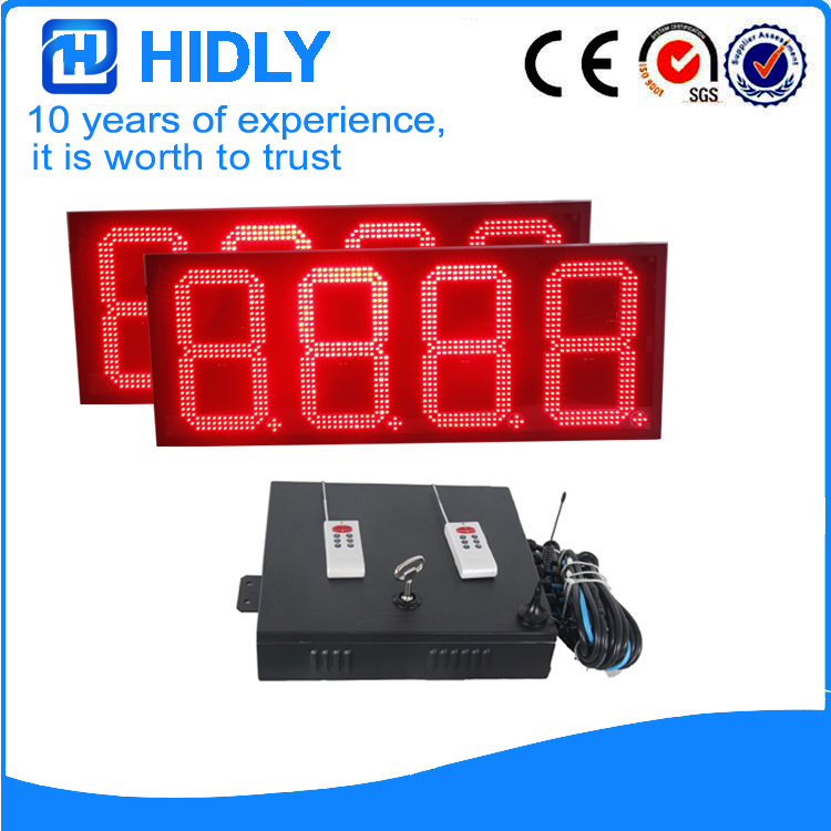 12 Inch Red LED Digital Screen
