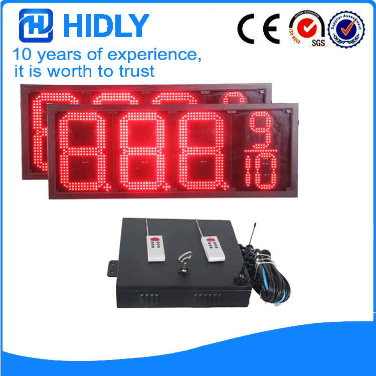 12 Inch Red LED Gas Screen