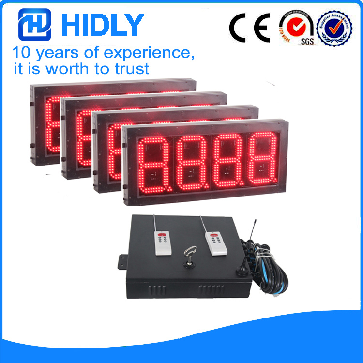 8 Inch Red LED Price Signs For Station