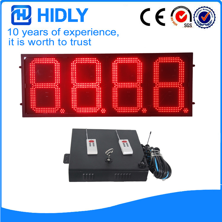 16 Inch Red LED Gas changer