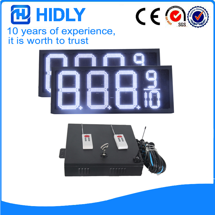 12 Inch White LED Digital Signs