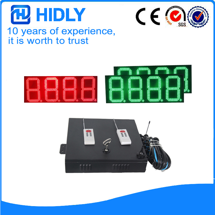 12 Red&Green LED Price Signs For Station